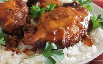 Crock Pot Garlic and Brown Sugar Chicken