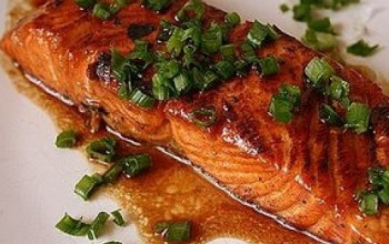 Apple Braised Salmon With Citrus-Spiced Couscous