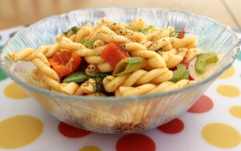 Pasta Salad with Green Beans and Tomatoes
