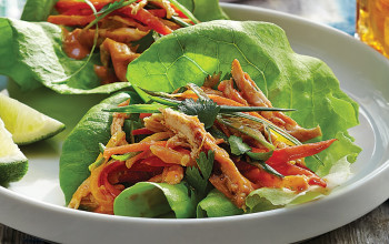 Thai Chicken Salad Lettuce Wraps