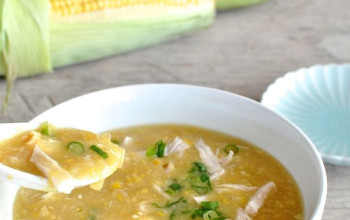 Chilled Corn and Chicken Soup