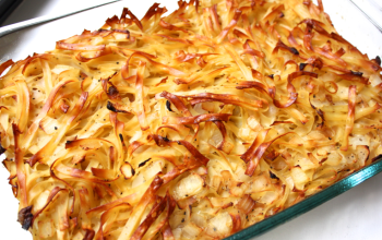 Onion and Noodle Kugel