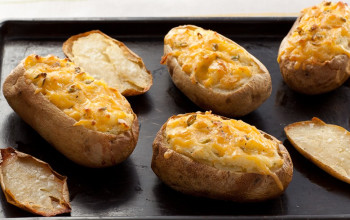 Garlic & Onion Baked Potatoes