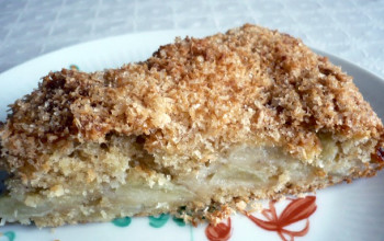 Apple Cake with Coconut Brown Sugar Topping