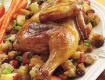 Cornish Hens With Fruit, Nuts and Honey Apple Glaze