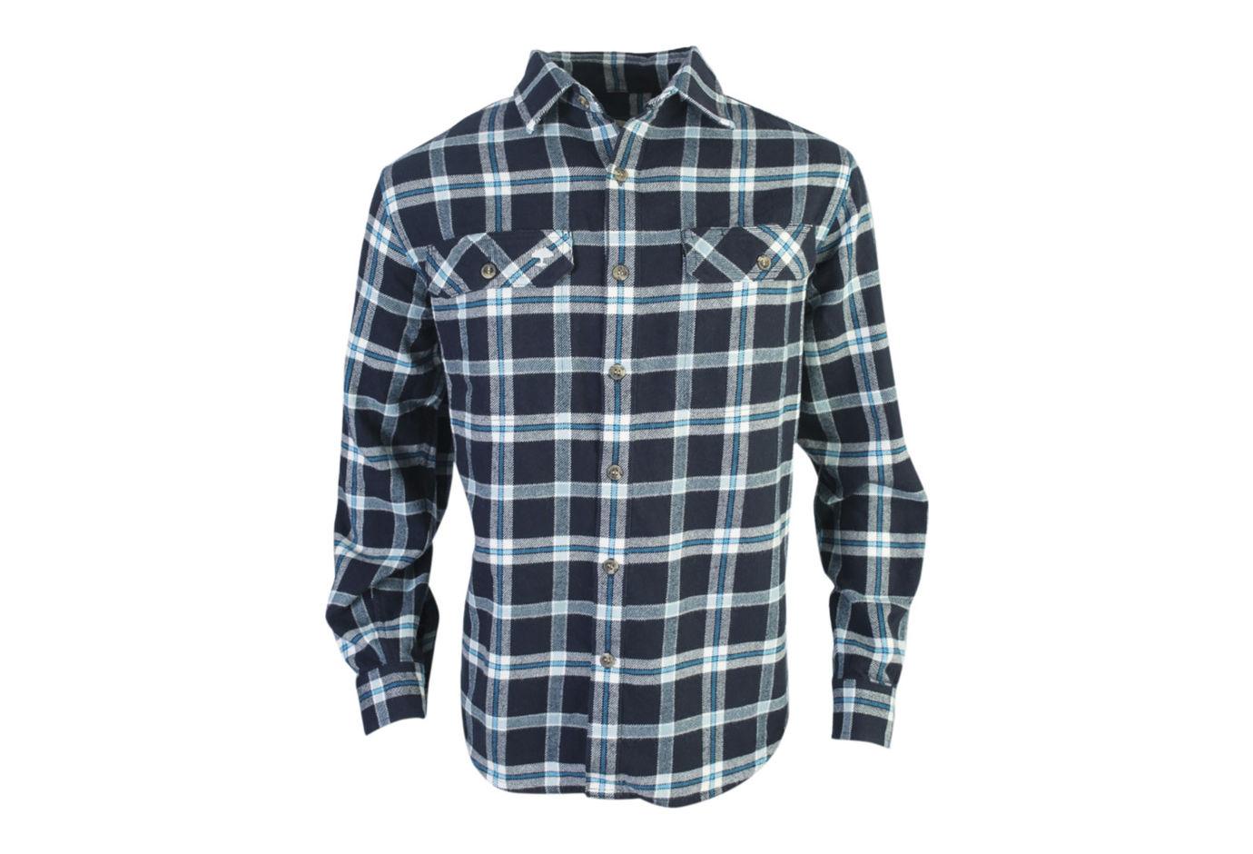 Arborwear Chagrin Flannel Shirt Navy Large