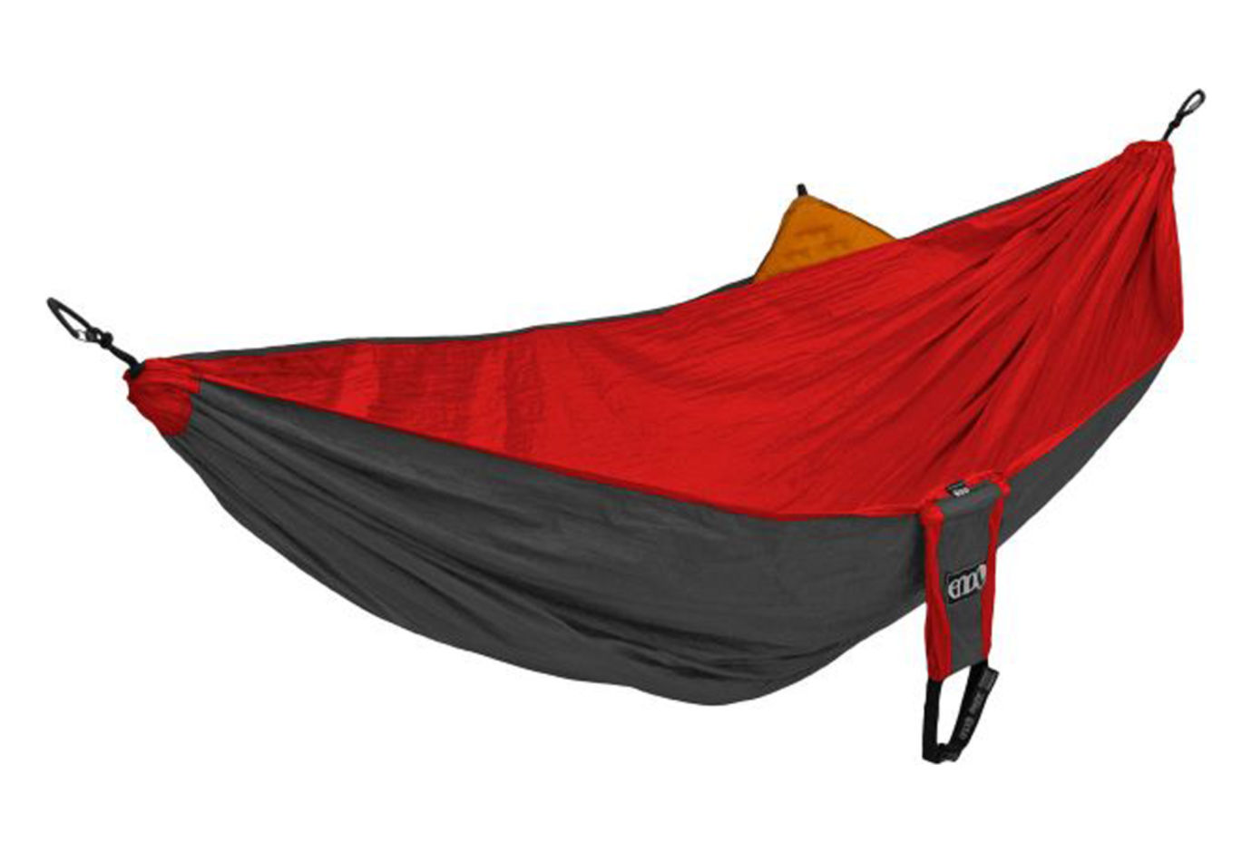 ENO Reactor Hammock W Sleep Pad Sleeve Red Charcoal
