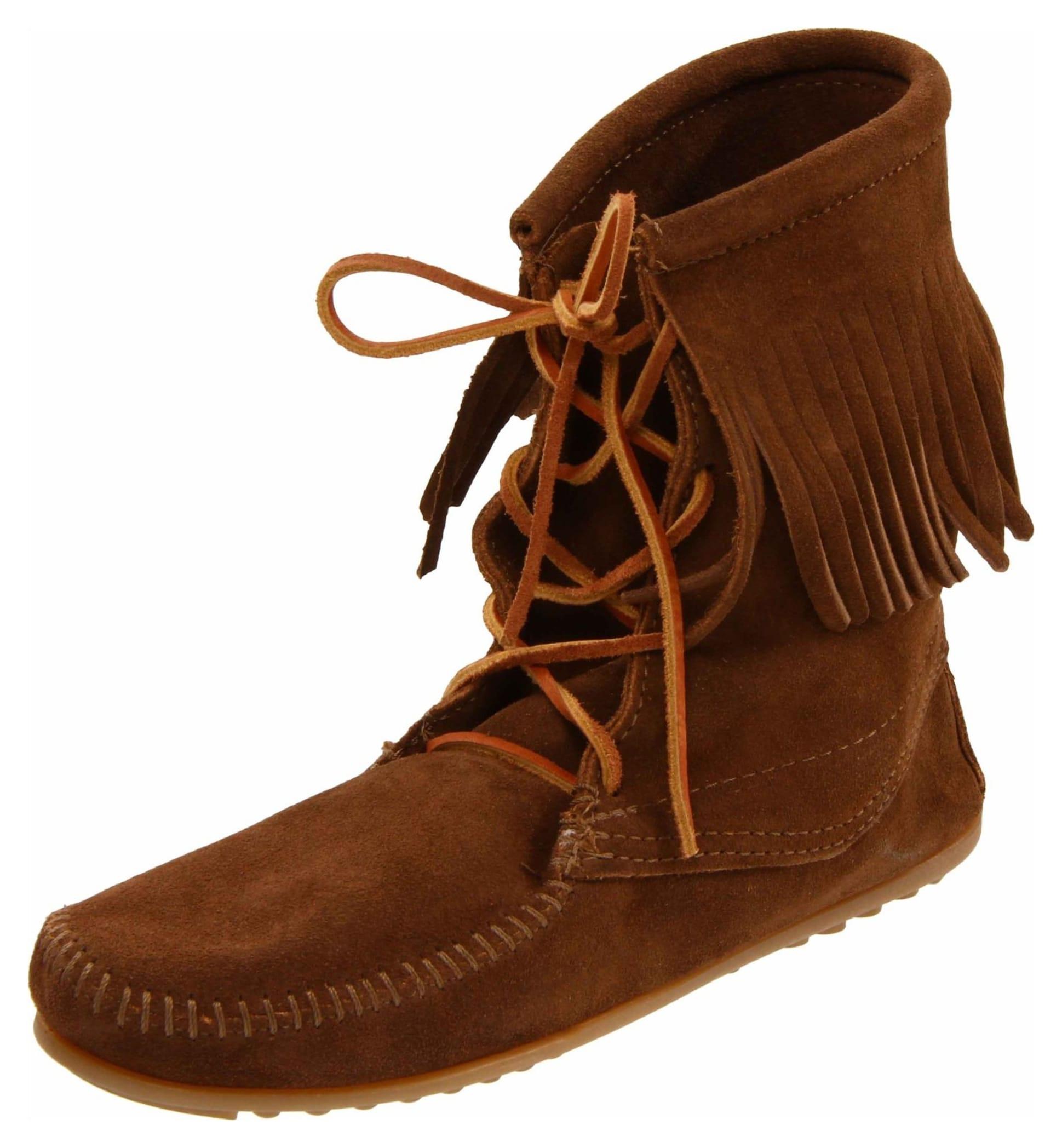 minnetonka s trer ankle hi boot dusty brown 6