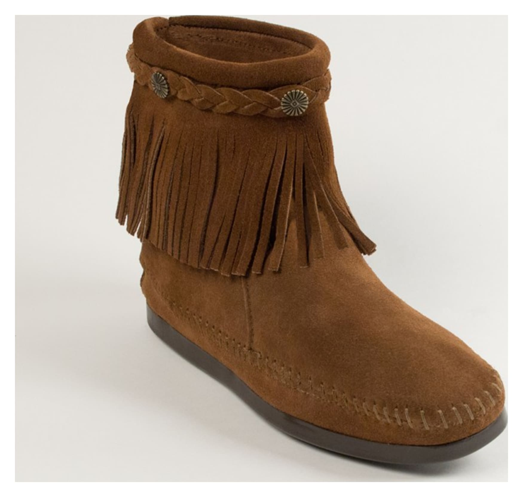 minnetonka s willow boot dusty brown 10