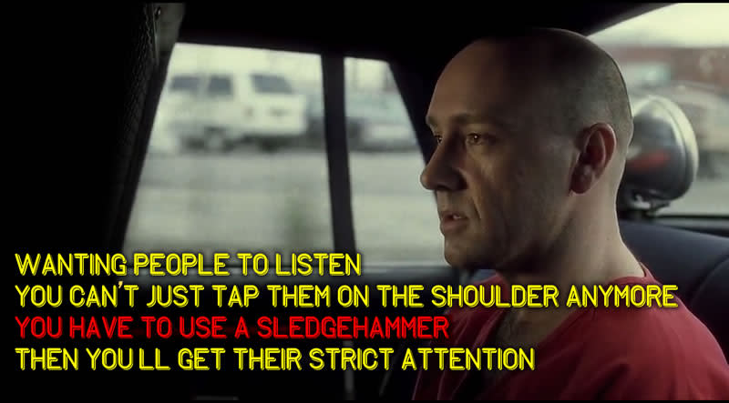 """""""Wanting people to listen you can't just... tap them on the shoulder anymore"""""""