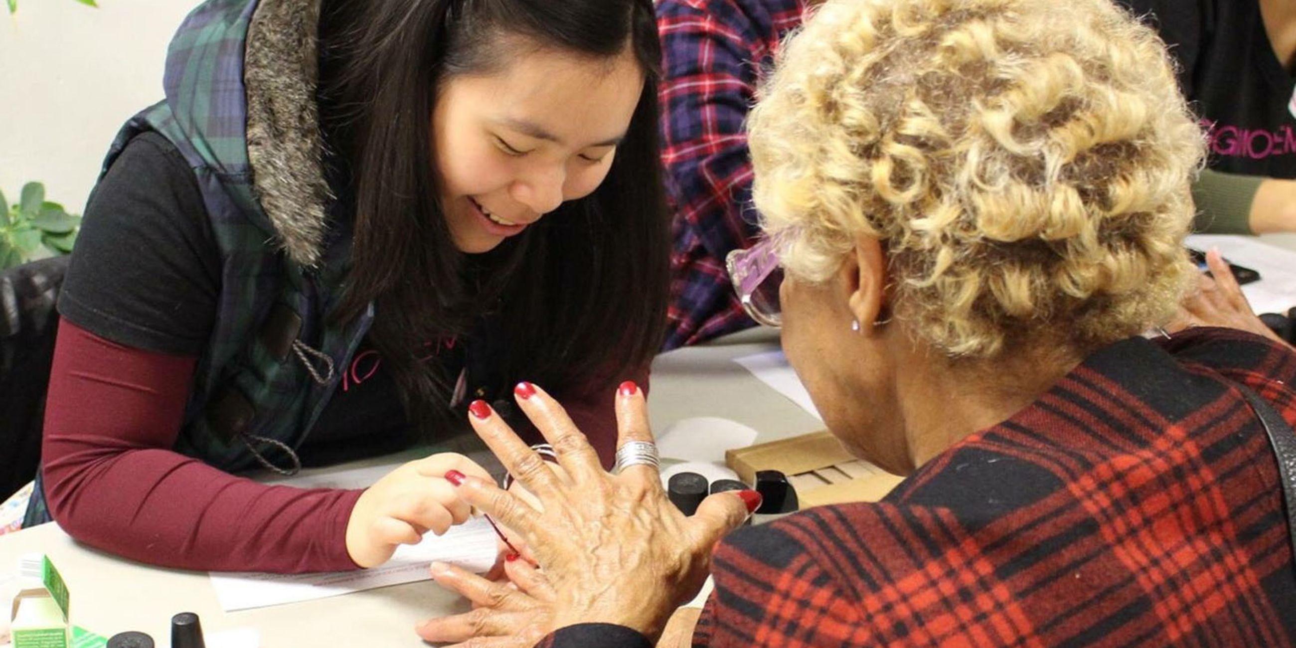 Senior Center Makeovers & Manicures