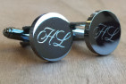 Personalised Engraved Silver Cufflinks - Square