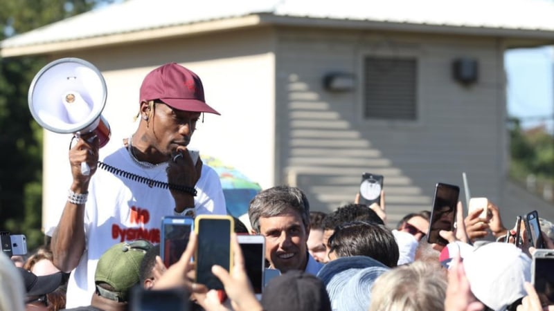 9955ea28f36c Travis Scott vocalizes support for Beto O'Rourke at Houston rally   REVOLT  - UNAPOLOGETICALLY HIP HOP
