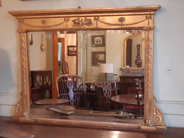 Regency gilt overmantle mirror