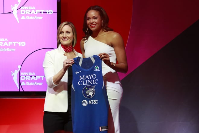 Napheesa Collier on the night of the 2019 WNBA Draft.