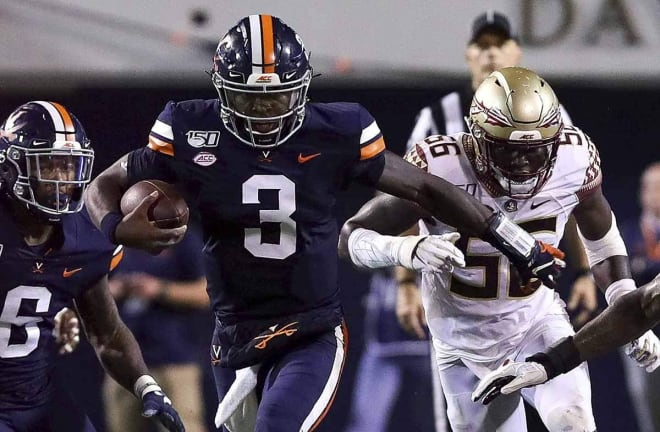 Virginia quarterback Bryce Perkins led three fourth-quarter touchdown drives against the FSU defense on Saturday night.