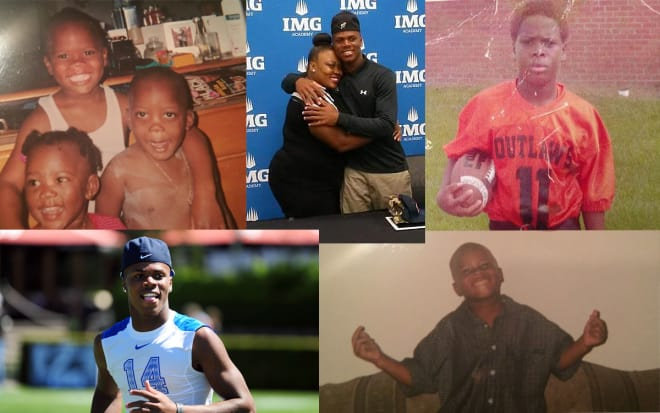 A collection of photos shows Deondre throughout the years.