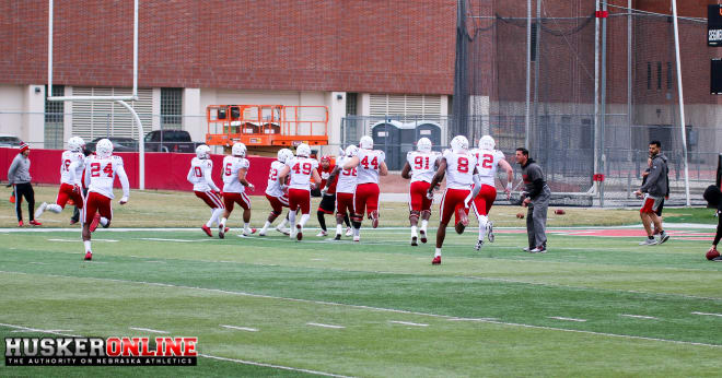 DC Bob Diaco and the defense doing ball pursuit drills