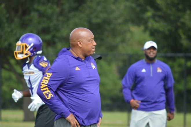 Pirate Defensive line coach Robert Prunty takes over as ECU DC replacing Kenwick Thompson.
