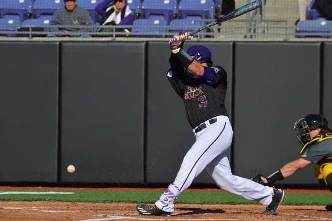 Travis Watkins had a pair of hits in East Carolina's 4-0 shutout of Appalachian State in the KLC.