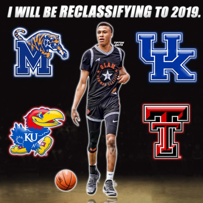 Kentucky, Kansas, Memphis, and Texas Tech are the four finalists for R.J. Hampton