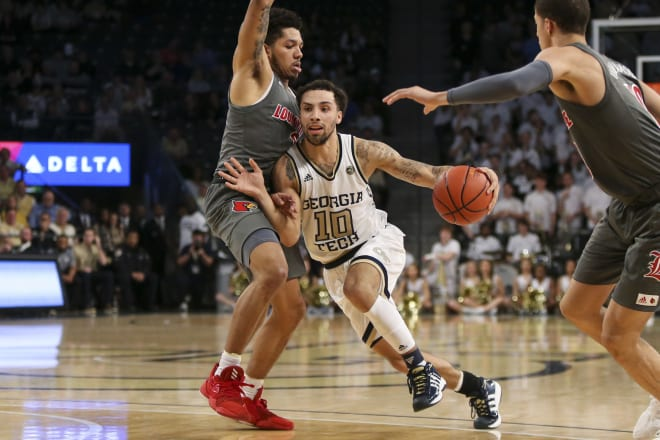Georgia Tech Men's Basketball Upends No. 5 Louisville, 64-58