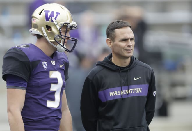 Wide receviers coach Matt Lubick will have to play a number of unproven faces this spring.