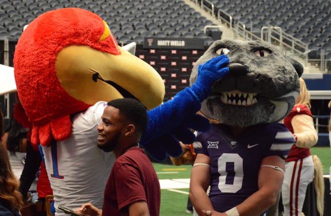 Oh, those silly media day mascots.