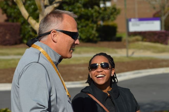 Former Georgia and Miami head coach Mark Richt made his way to Greenville on Friday for ECU's coaches clinic.