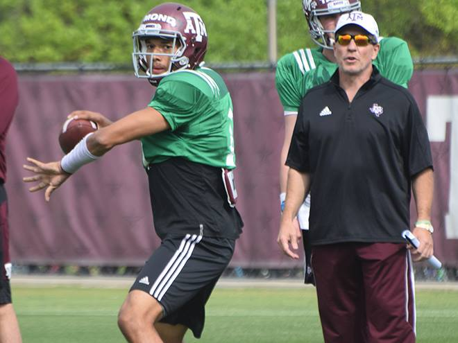Jimbo Fisher says QB Kellen Mond had better camp than Nick Starkel