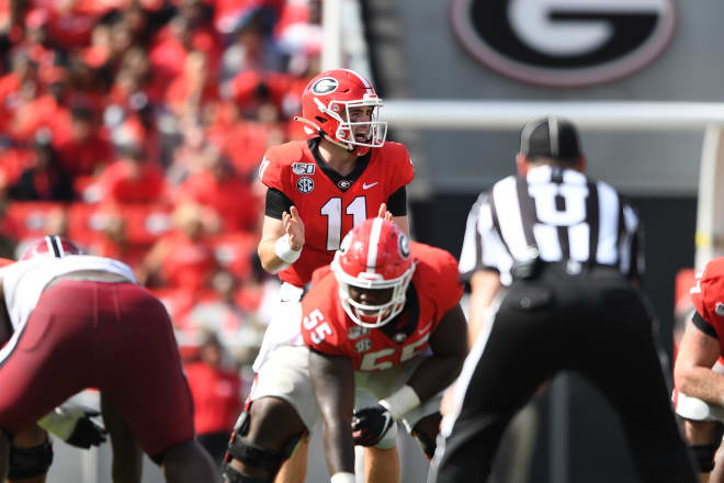 Jake Fromm took the place for Saturday's loss to South Carolina.