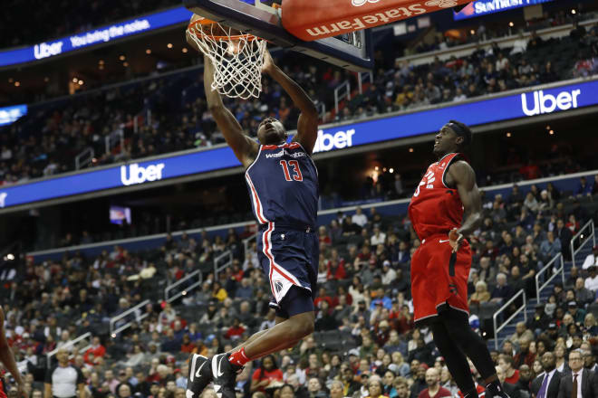 Former IU standout Thomas Bryant (13) continues to play well for the NBA's Washington Wizards.