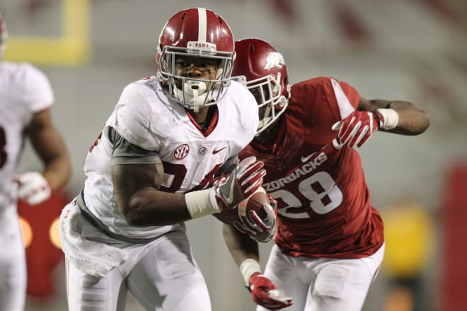 Damien Harris led Alabama with 1,037 yards on the ground last season.