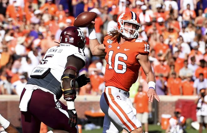 Trevor Lawrence is now a perfect 13-0 as Clemson's starting quarterback.