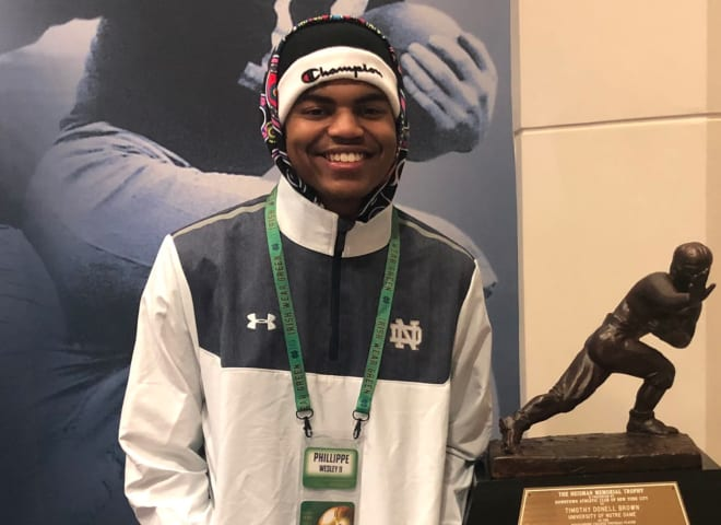 Phillippe Wesley had a great visit to Notre Dame on Saturday
