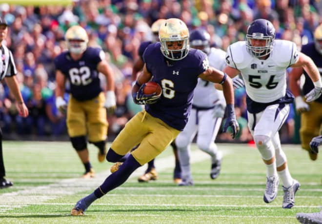 How they scored: Notre Dame 21, LSU 17