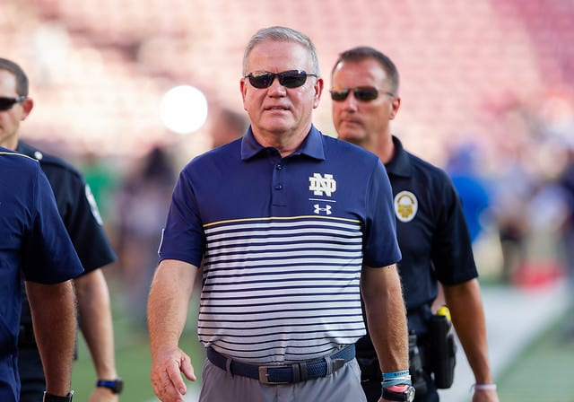 """Brian Kelly and his Fighting Irish are prepared to face another marquee matchup """"On Broadway"""" this coming Saturday."""