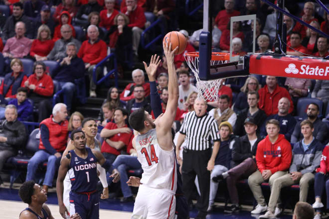 Alkins leads No. 18 Arizona over UConn