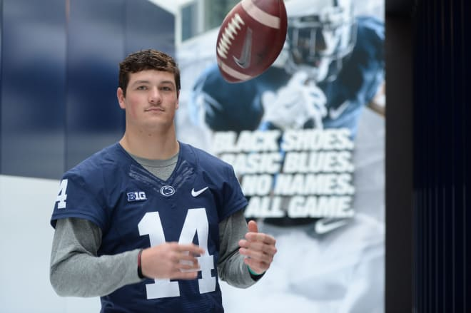 Hackenberg posed for a series of photos to appear alongside this feature story in the latest issue of Blue White Illustrated's magazine.
