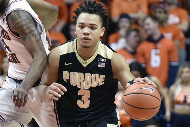 Carsen Edwards: Goes for 40 in win over IL