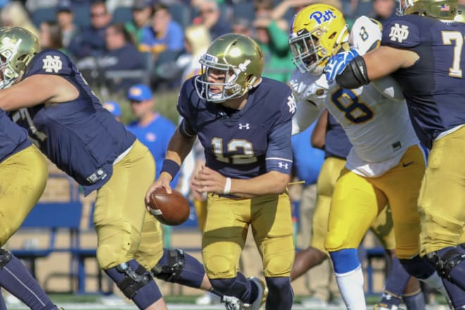 Ian Book's passing accuracy and underrated mobility and sense of pass rush will be essential to Notre Dame's offense ranking among the best nationally.