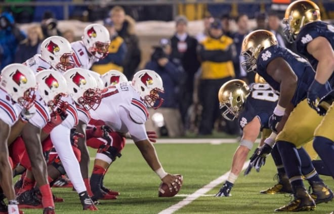 Louisville won the lone previous meeting against Notre Dame, 31-28, in 2014.