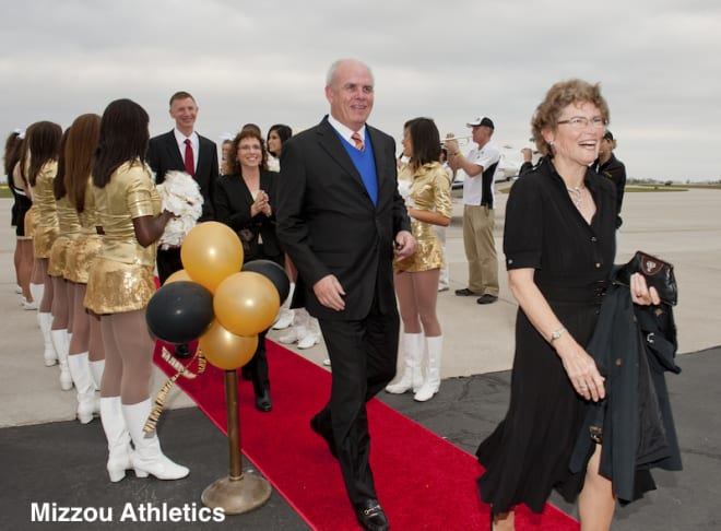 Florida President Bernie Machen and his wife arrived in Columbia for Mizzou's SEC introduction