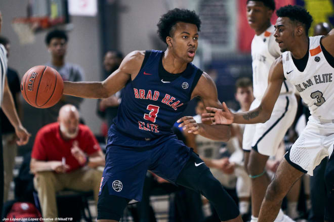 RIvals top 50 small forward Moses Moody for Bradley Beal Elite AAU team.