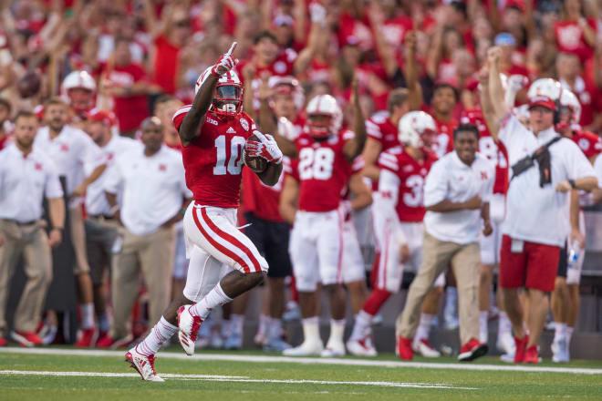 Nebraska's J.D. Spielman leads all of college football in kickoff return average.