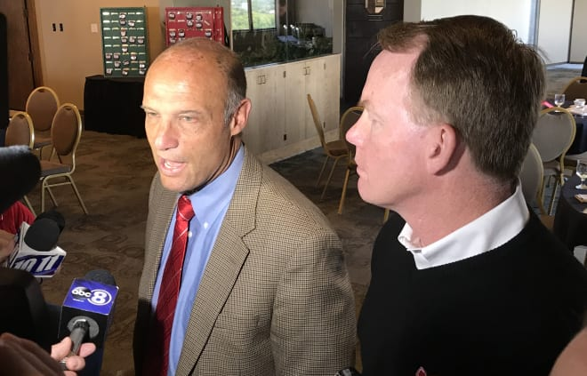 """Nebraska athletic director Shawn Eichorst and head football coach Mike Riley kicked off their 2017 """"Huskers Tour"""" in Lincoln on Monday afternoon."""