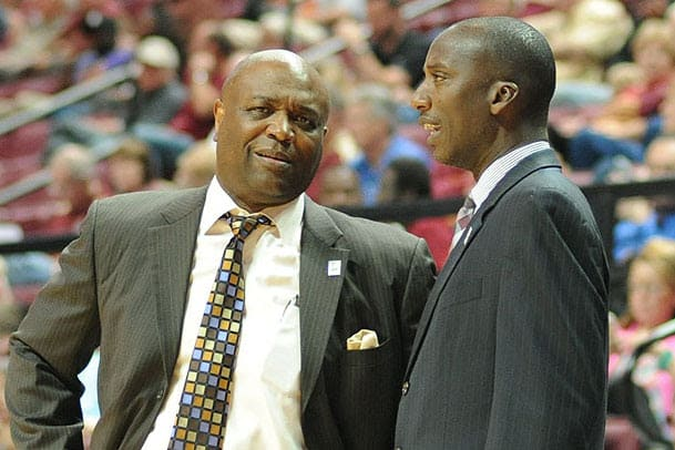 FSU assistant coach Charlton Young (right) was named the No. 3 assistant coach in the ACC.