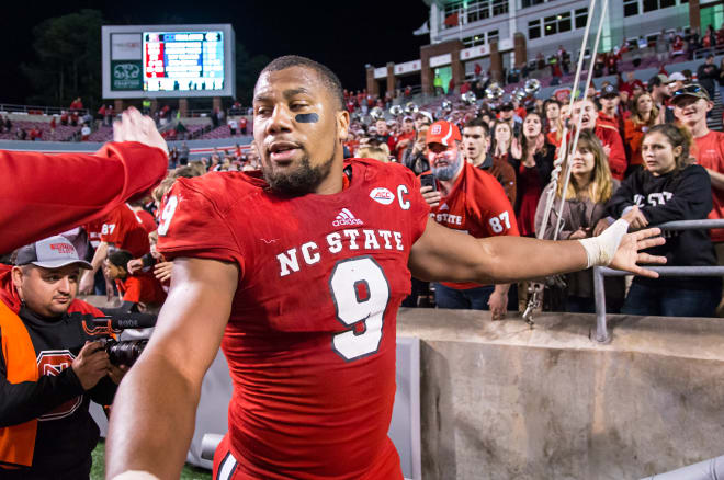 NC State senior defensive end Bradley Chubb was the top vote getter on the All-ACC defensive first team.