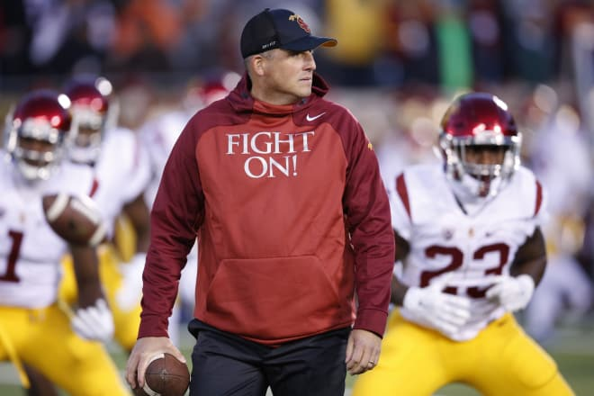 Clay Helton to remain USC head coach, university announces