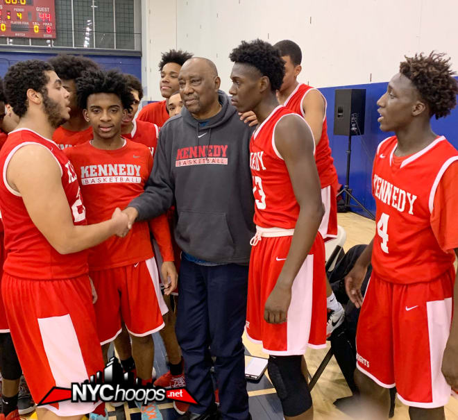Instead if running out to center court to celebrate, the Knights all ran to their head coach Johnnie Mathis.